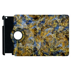 Antique Anciently Gold Blue Vintage Design Apple Ipad 2 Flip 360 Case by designworld65