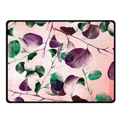 Spiral Eucalyptus Leaves Double Sided Fleece Blanket (small)  by DanaeStudio