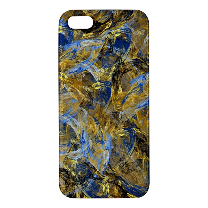 Antique Anciently Gold Blue Vintage Design Apple iPhone 5 Premium Hardshell Case