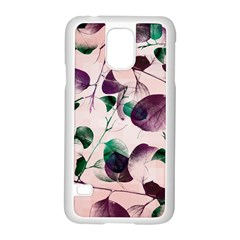 Spiral Eucalyptus Leaves Samsung Galaxy S5 Case (white) by DanaeStudio
