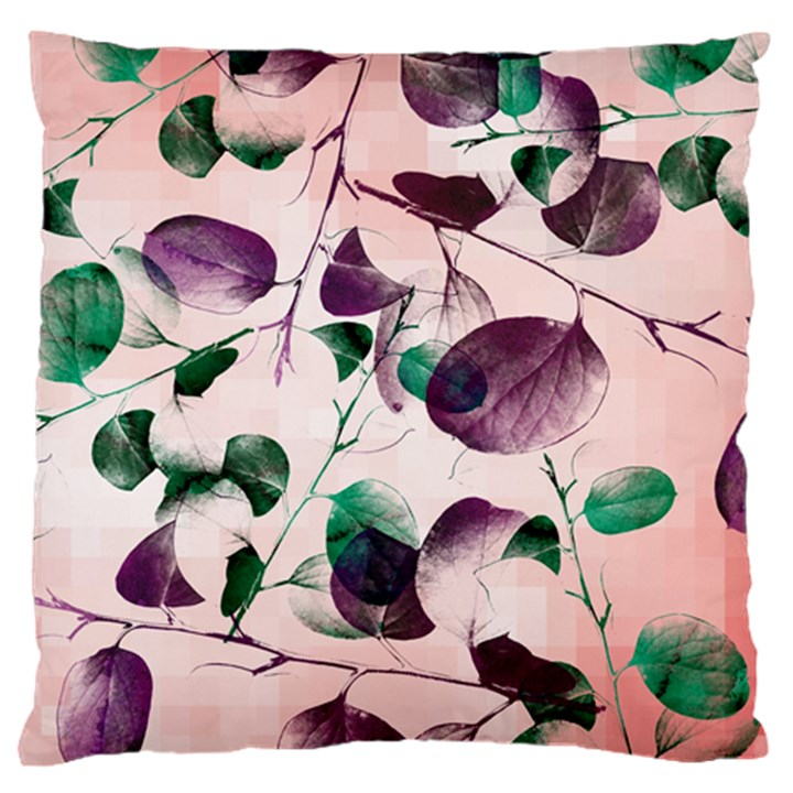 Spiral Eucalyptus Leaves Large Flano Cushion Case (Two Sides)
