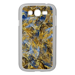 Antique Anciently Gold Blue Vintage Design Samsung Galaxy Grand Duos I9082 Case (white) by designworld65