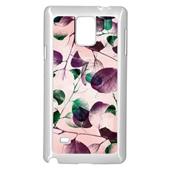 Spiral Eucalyptus Leaves Samsung Galaxy Note 4 Case (white) by DanaeStudio
