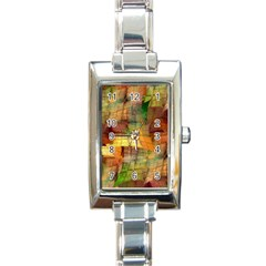Indian Summer Funny Check Rectangle Italian Charm Watch by designworld65