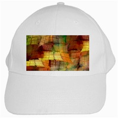 Indian Summer Funny Check White Cap by designworld65