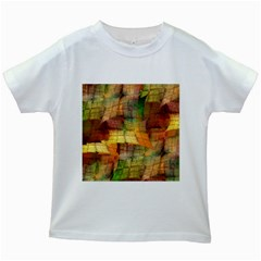 Indian Summer Funny Check Kids White T Shirts by designworld65