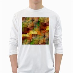 Indian Summer Funny Check White Long Sleeve T-shirts by designworld65