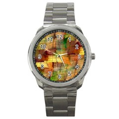 Indian Summer Funny Check Sport Metal Watch by designworld65