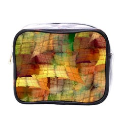Indian Summer Funny Check Mini Toiletries Bags by designworld65