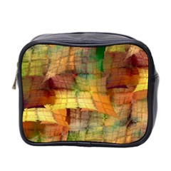 Indian Summer Funny Check Mini Toiletries Bag 2 Side by designworld65