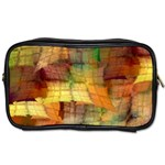 Indian Summer Funny Check Toiletries Bags Front