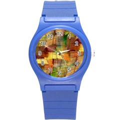 Indian Summer Funny Check Round Plastic Sport Watch (s) by designworld65
