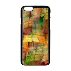 Indian Summer Funny Check Apple Iphone 6/6s Black Enamel Case by designworld65