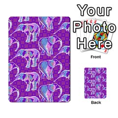 Cute Violet Elephants Pattern Multi-purpose Cards (Rectangle)
