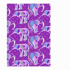 Cute Violet Elephants Pattern Small Garden Flag (Two Sides)