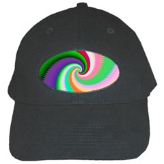 Colorful Spiral Dragon Scales   Black Cap by designworld65