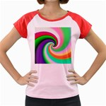 Colorful Spiral Dragon Scales   Women s Cap Sleeve T-Shirt Front