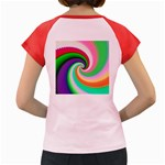 Colorful Spiral Dragon Scales   Women s Cap Sleeve T-Shirt Back