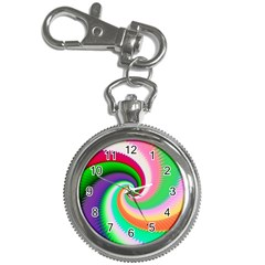 Colorful Spiral Dragon Scales   Key Chain Watches by designworld65