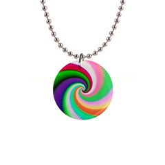 Colorful Spiral Dragon Scales   Button Necklaces