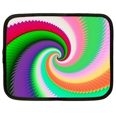 Colorful Spiral Dragon Scales   Netbook Case (Large)