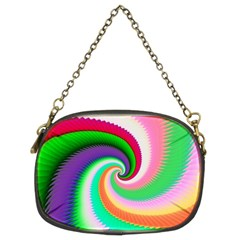Colorful Spiral Dragon Scales   Chain Purses (Two Sides)