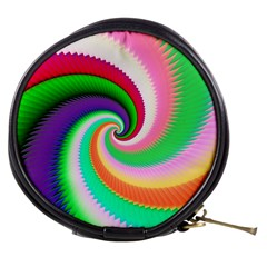 Colorful Spiral Dragon Scales   Mini Makeup Bags by designworld65