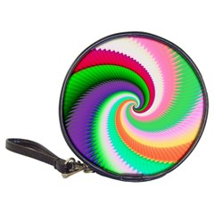 Colorful Spiral Dragon Scales   Classic 20-CD Wallets