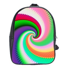 Colorful Spiral Dragon Scales   School Bags(Large)
