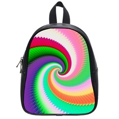 Colorful Spiral Dragon Scales   School Bags (small)  by designworld65