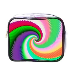 Colorful Spiral Dragon Scales   Mini Toiletries Bags