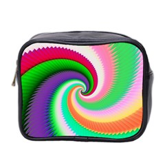 Colorful Spiral Dragon Scales   Mini Toiletries Bag 2 Side by designworld65