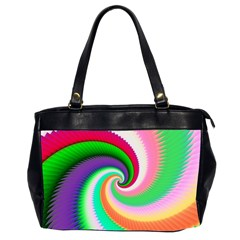 Colorful Spiral Dragon Scales   Office Handbags (2 Sides)  by designworld65