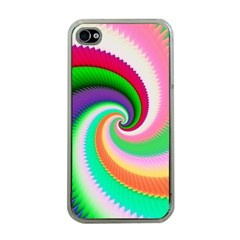 Colorful Spiral Dragon Scales   Apple Iphone 4 Case (clear) by designworld65