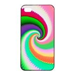 Colorful Spiral Dragon Scales   Apple iPhone 4/4s Seamless Case (Black) Front
