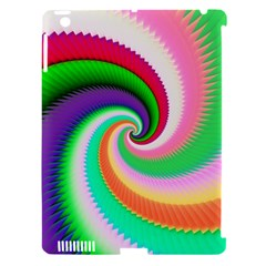 Colorful Spiral Dragon Scales   Apple Ipad 3/4 Hardshell Case (compatible With Smart Cover) by designworld65