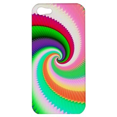 Colorful Spiral Dragon Scales   Apple Iphone 5 Hardshell Case by designworld65