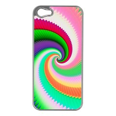 Colorful Spiral Dragon Scales   Apple iPhone 5 Case (Silver)