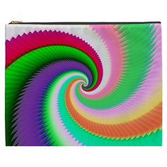 Colorful Spiral Dragon Scales   Cosmetic Bag (xxxl)  by designworld65