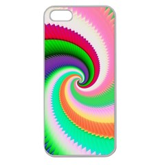 Colorful Spiral Dragon Scales   Apple Seamless iPhone 5 Case (Clear)