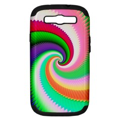 Colorful Spiral Dragon Scales   Samsung Galaxy S Iii Hardshell Case (pc+silicone) by designworld65