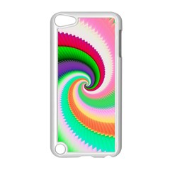 Colorful Spiral Dragon Scales   Apple Ipod Touch 5 Case (white) by designworld65