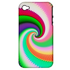 Colorful Spiral Dragon Scales   Apple iPhone 4/4S Hardshell Case (PC+Silicone)