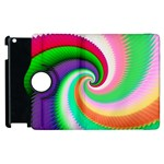 Colorful Spiral Dragon Scales   Apple iPad 2 Flip 360 Case Front