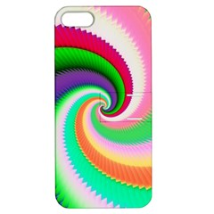 Colorful Spiral Dragon Scales   Apple Iphone 5 Hardshell Case With Stand by designworld65