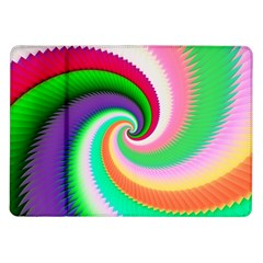 Colorful Spiral Dragon Scales   Samsung Galaxy Tab 10.1  P7500 Flip Case