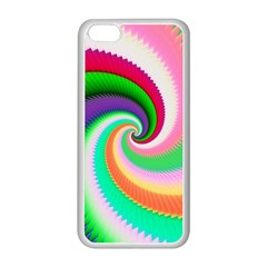Colorful Spiral Dragon Scales   Apple Iphone 5c Seamless Case (white) by designworld65