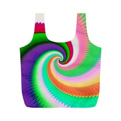 Colorful Spiral Dragon Scales   Full Print Recycle Bags (M)