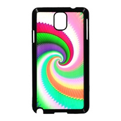 Colorful Spiral Dragon Scales   Samsung Galaxy Note 3 Neo Hardshell Case (Black)