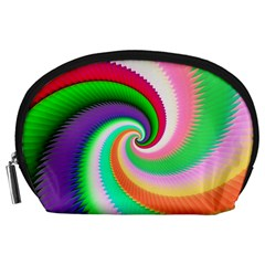 Colorful Spiral Dragon Scales   Accessory Pouches (large)  by designworld65